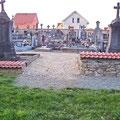 Jonction piétonne entre l'ancien et le nouveau cimetière - Octobre 2010