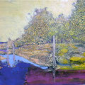 Park 5, Acryl, Spachtelmasse auf Leinwand, 60x80 cm