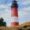 Leuchtturm Sylt, Acryl auf Leinwand, 30 x 40 cm