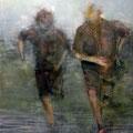 Momenti 3, Acryl auf Leinwand, 100 x 80 cm