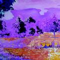 See 1, Acryl, Spachtelmasse auf Leinwand, 100 x 200 cm
