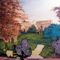 Park 6, Acryl, Spachtelmasse auf Leinwand, 60x60 cm,