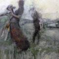 Momenti 2, Acryl auf Leinwand, 100 x 80 cm