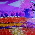 See 2, Acryl, Spachtelmasse auf Leinwand, 100 x 200 cm