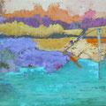 Park 9, Acryl, Spachtelmasse auf Leinwand, 60x80 cm