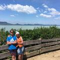 Balaton, Ungarn, Mai 2019: Barbara und Oliver im Urlaub
