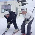 April 2013. Marc und Conny in Ischgl, Schweizer Grenze