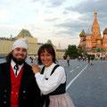 Juni 2007, Gebi mit Gaby auf dem roten Platz in Moskau