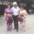 Oktober 2016, Japan-Kyoto. Obmann Stefan bei der Anwerbung von Marketenderinnen im Land der aufgehenden Sonne