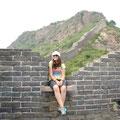Romana auf der chinesischen Mauer
