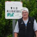 Walter in Florida, Besuch in den Everglades, Mai 2018