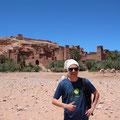 Marrakech, Marokko 2019: Alex mit Kappa und Kamel auf Urlaub