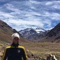 Thomas am Fuße des Cerro Aconcagua, 6.962m, Argentinien. Oktober 2017