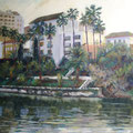 The Remedies from the pier-oil on canvas/ Los Remedios desde el muelle- óleo sobre lienzo