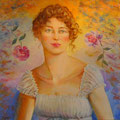 Calíope,Técnica mixta sobre lienzo/ Caliope, Mixed medium on canvas.