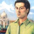 Autorretrato en Venecia ,detalle-Oleo sobre lienzo/ Selfportrait in Venice,detail- oil on canvas