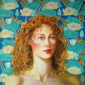 La Dama del Lago- mixta sobre lienzo/ Lady of the Lake-mixed medium on canvas.