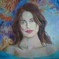 La comediante.  Acrílico sobre lienzo./ Comedian.Acrylic on canvas.