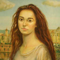 Lola en la Ribera -Oleo sobre lienzo/ Lola in the Dock-oil on canvas