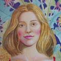 María José,detalle-Temple sobre lienzo/ Maria Jose, detail- Tempera on canvas