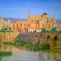 Vista panorámica de Córdoba-Óleo sobre lienzo/Skyline of Cordoba-Oil on canvas