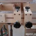 Die beiden Spannbacken lassen sich an jeder gewünschten Stelle positionieren und fixieren, quasi als Voreinstellung.
