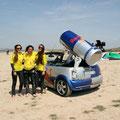 Con las chicas de Red Bull