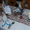 Hirsch am Tisch und am Teller