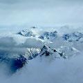 Blick vom Gipfel zum Ortler