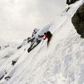steiler Gipfelhang