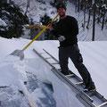 Zusatzarbeit mit Dach abschöpfen