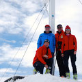1.Gruppe am Gipfel Piz Sesvenna 3.205m
