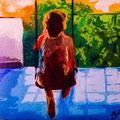 """""""Pause"""" Francesco - acrilici e gessetti 60x50cm"""