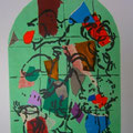 Asher - second color study uit Jerusalem Windows (1962)