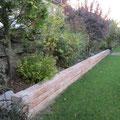 neue Gartenmauer, Herbst 2011