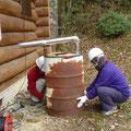 ドラム缶修理完成
