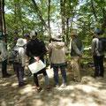 森の中の観察