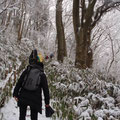 樹氷の中を歩く(その1)