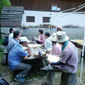 園地でのBチームのミーティング
