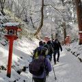 樹氷の中を歩く(その2)