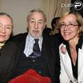 Monique Chaumette, Philippe Noiret et leur fille Frédérique