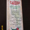 DekoSchild mit Rezepten - Druck auf Echtholz