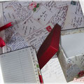 "GESCHENKSET ""Alte Postkarten"" Adressbuch - Box - Album"