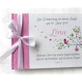 Foto Gästebuch Taufe Mädchen pink weiß grün