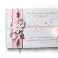 Foto Gästebuch Taufe Mädchen weiß rosa Engel