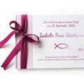 Foto Gästebuch Taufe Mädchen rose weiß fuchsia Fische