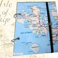 """Reisetagebuch """"Isle of Skye"""" - Für persönliche Gedanken, Notizen, Skizzen... Ringbuch mit Blankopapier, Innentasche und Buchgummi . VIELEN DANK H.R aus H."""