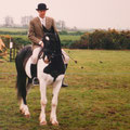Apache's Delight and Stephan, Clonakilty Agricultural Show 1996. Apache has also been out with the Carbery Hunt, West Cork Ireland, for several seasons.