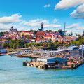 Tallin - das kulturelle Zentrum Estlands, es liegt nur knapp 44 sm von Helsinki entfernt
