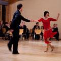 Nadine Schmidt und Claus-Dieter Erhard vom ETSV 09 beim Discofox